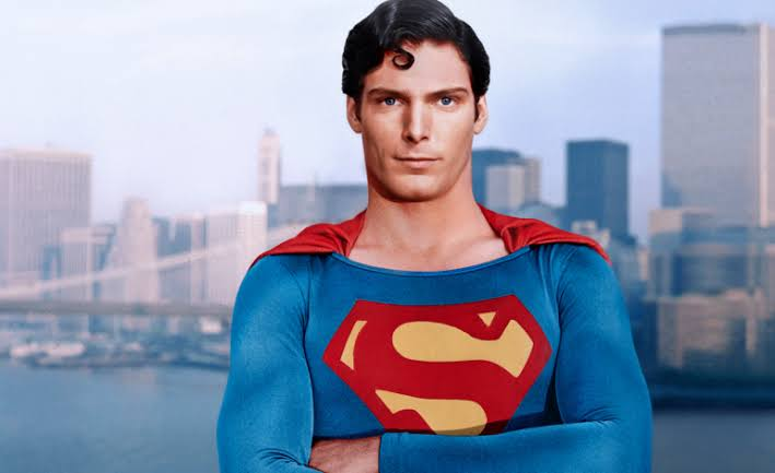The late Christopher Reeve as Superman