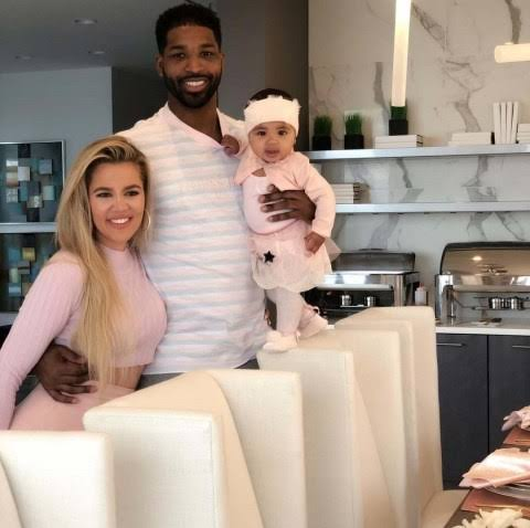 Khloe, Tristan and their daughter True