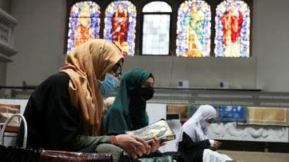 Muslims Pray In Berlin Church To Observe Social Distancing Rules