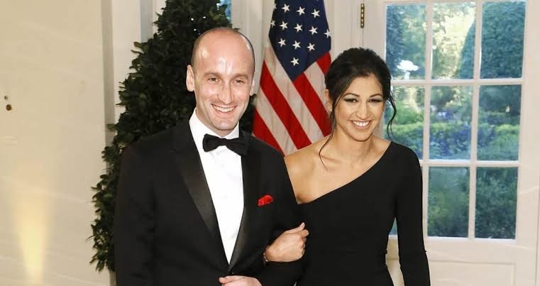 Katie Miller and her husband Stephen Miller