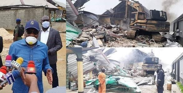 'It Is To Protect Our People' - Wike Defends Demolition Of Hotels In Rivers