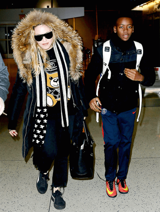 Madonna and her adopted son David