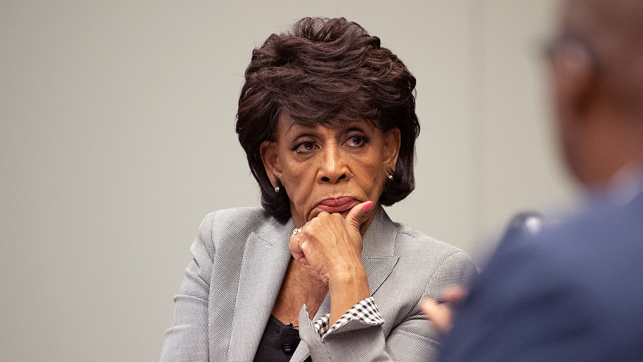 Maxine Waters joins her voice to those of others protesting the unlawful killing of George Floyd