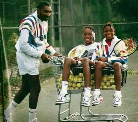 Richard Williams with Venus and Serena during their childhood