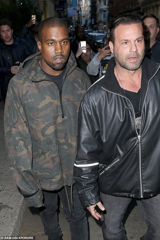 Kanye West and Nick Stanulis