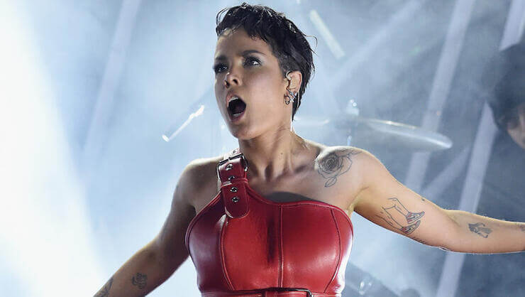 Halsey says she was covered in innocent blood