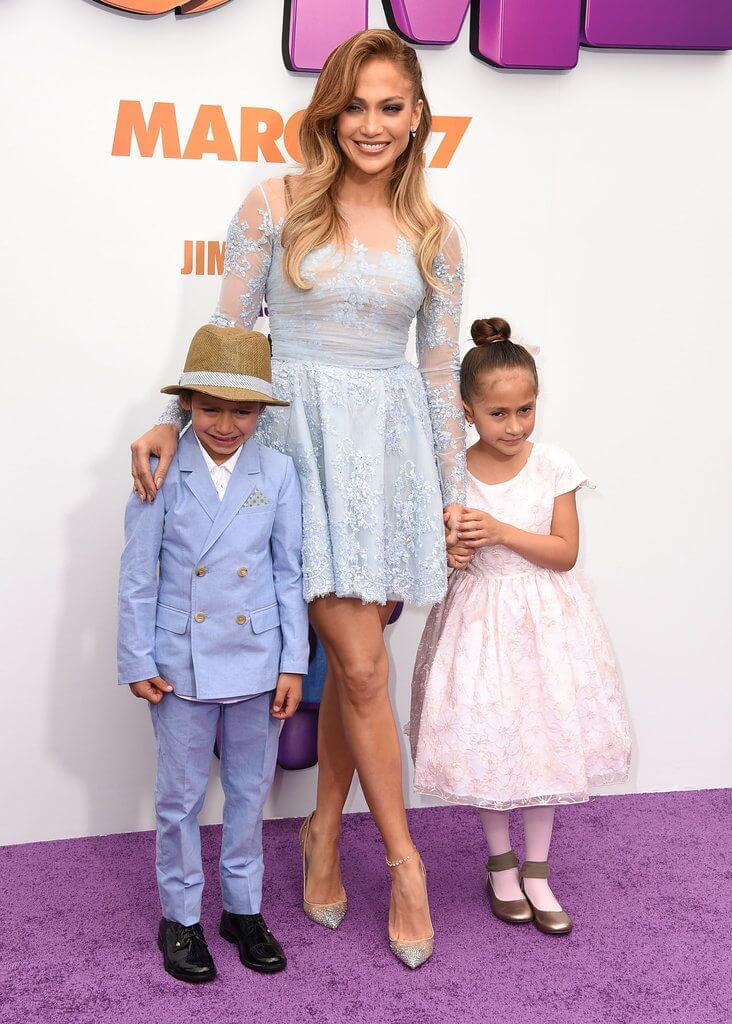 J-Lo with her twin kids