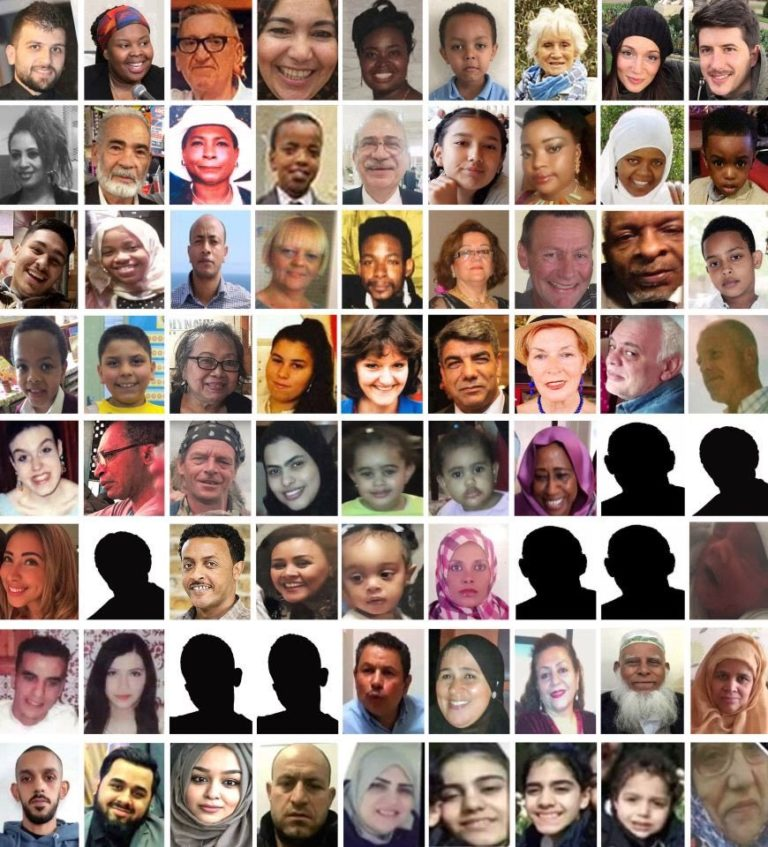 72 Victims of Grenfell Tower Fire