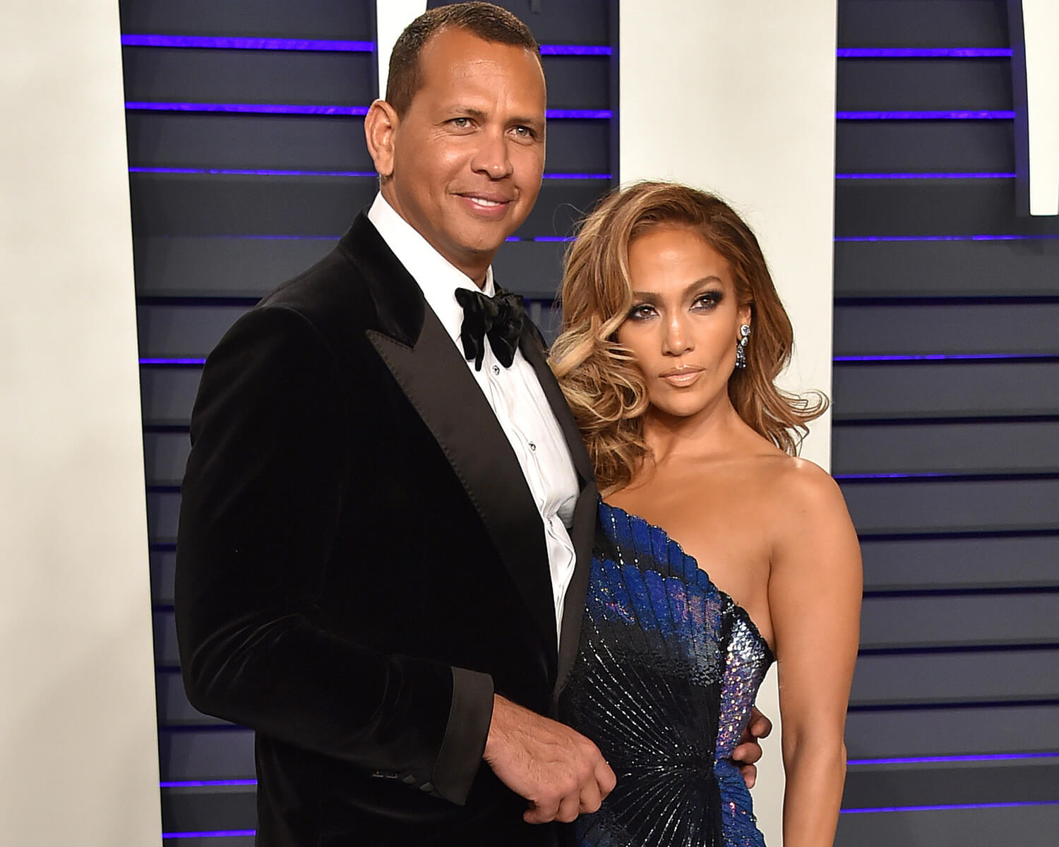 With her fiance Alex Rodriguez