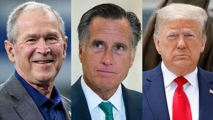 Geaorge Bush, Mitt Romney Won't Support Trump's Reelection