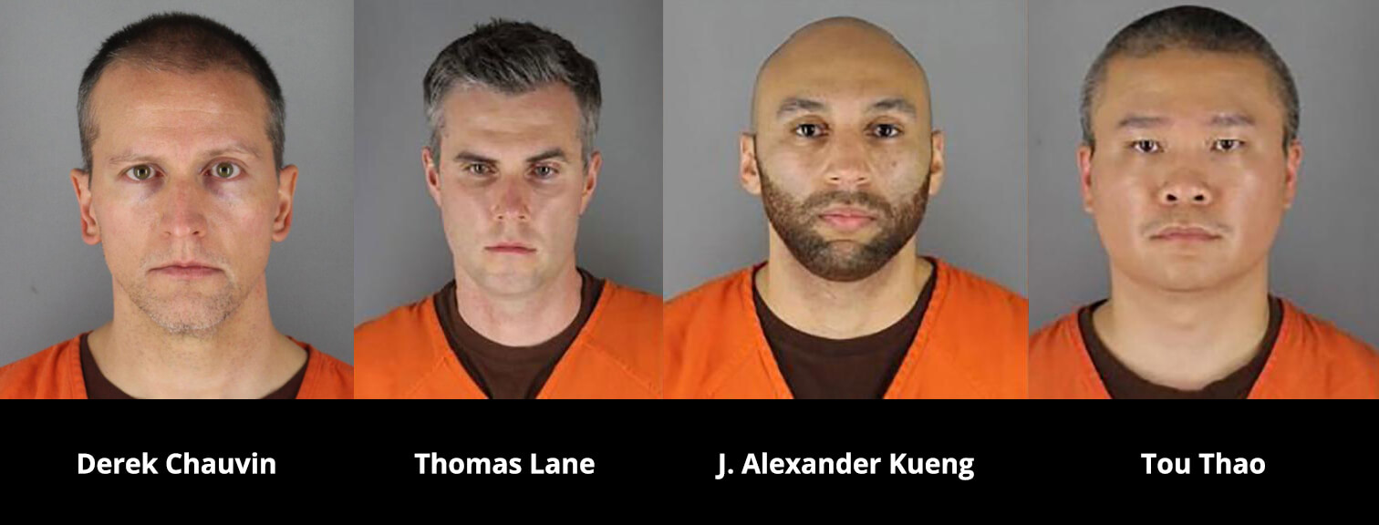 The four former cops charged in the George Floyd case