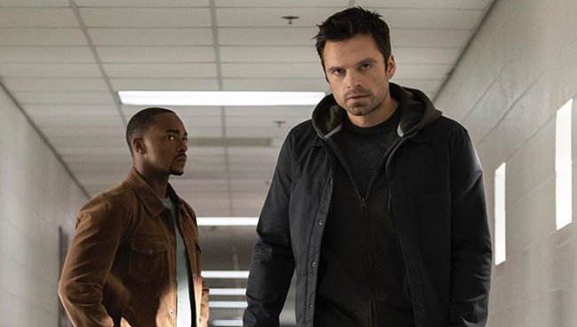 Anthony Mackie and Sebastian Stan in the series
