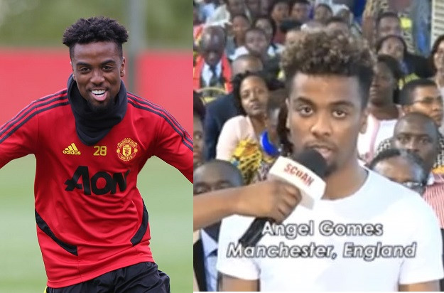 """I Was Practicing My Faith"" - Man Utd's Angel Gomes On Receiving 'Injury Healing' At T.B Joshua's Church"