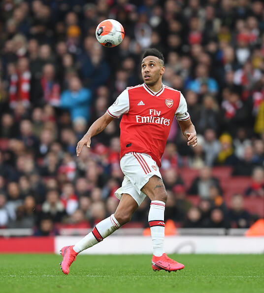 Aubameyang in action/Photo Credit: Getty Images