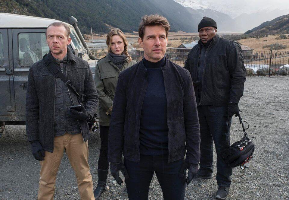 From left: Simon Pegg, Rebecca Ferguson, Tom Cruise and Ving Rhames in MISSION IMPOSSIBLE: FALLOUT
