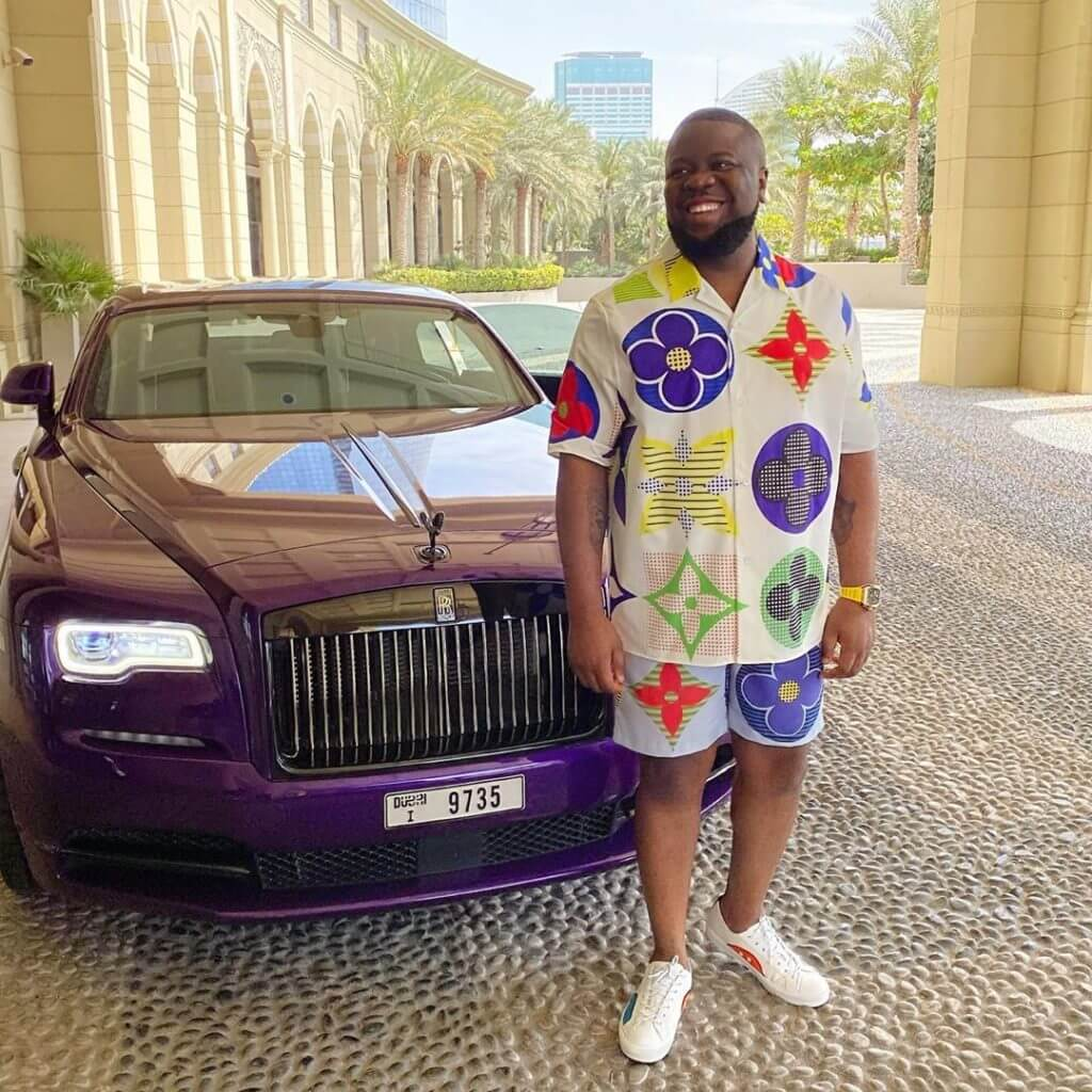 Hushpuppi is known for showing off his flamboyant lifestyle