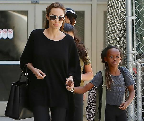 Jolie and a younger Zahara