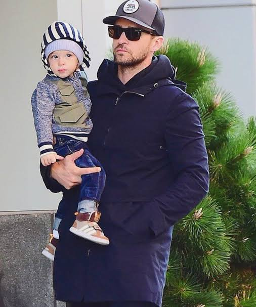 Timberlake and his son Silas
