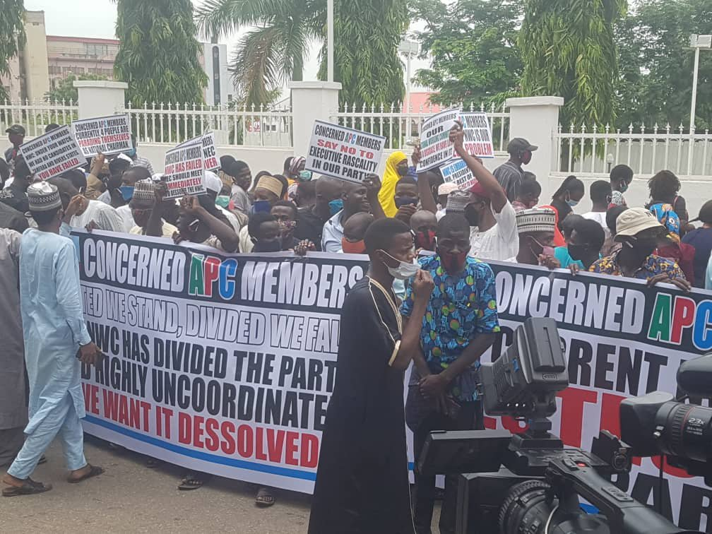 APC Crisis: Protesters Want NWC Dissolved