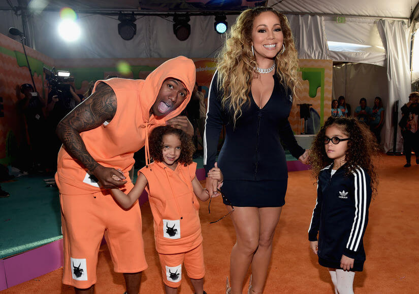Nick Cannon, Mariah Carey, and their kids/Photo Credit: Getty Images