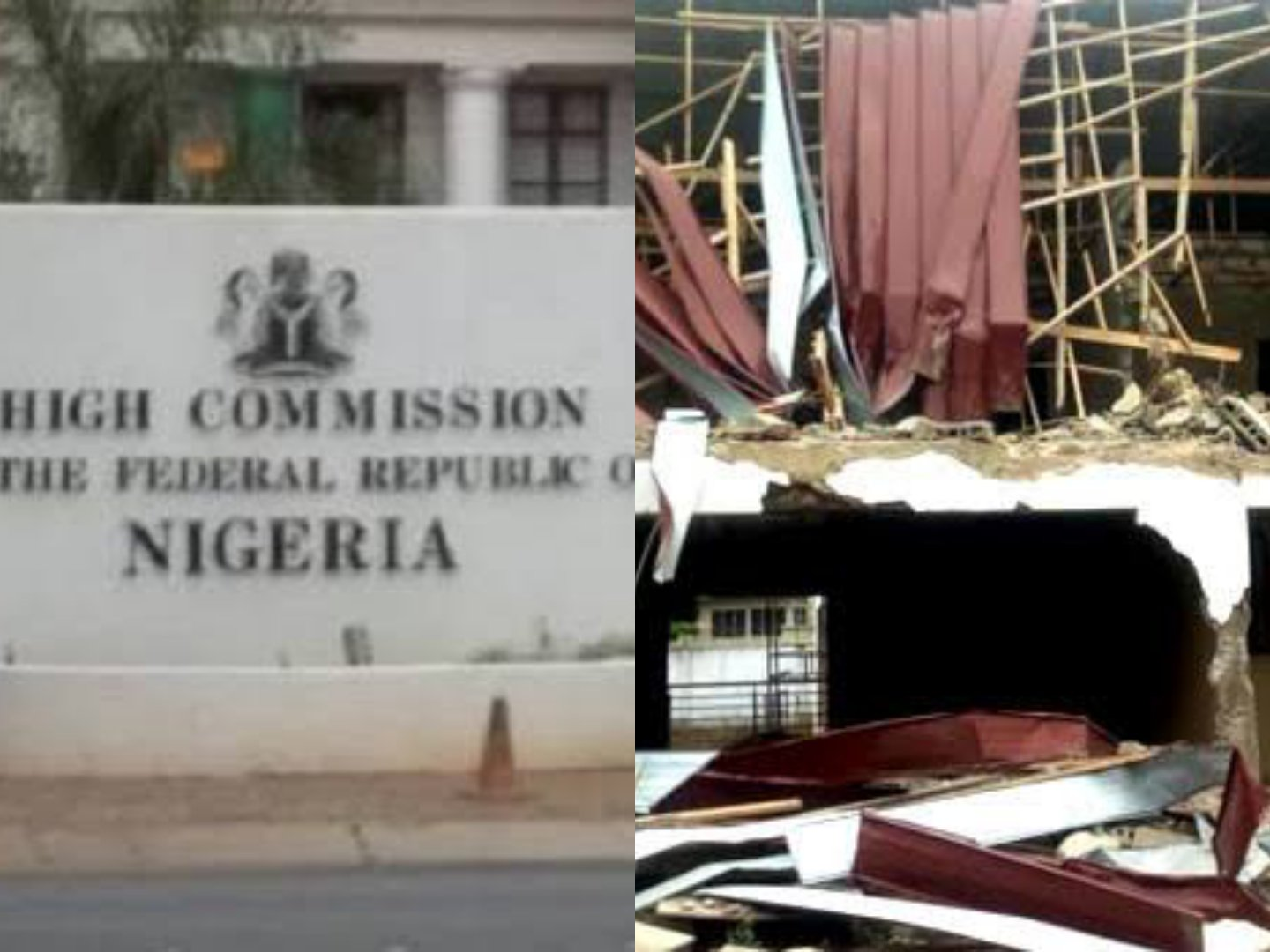 How Armed Men Backed By Ghanaian Govt. Demolished Nigeria's Embassy Residence