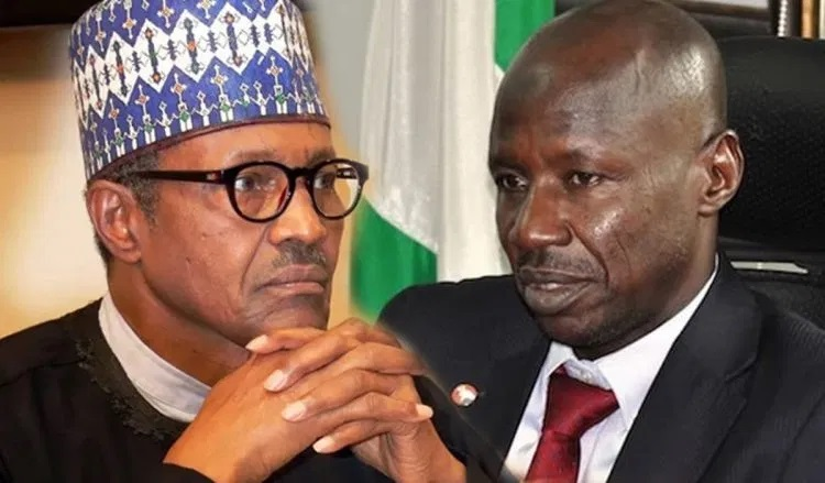 Buhari Finally Confirms Magu's Suspension, Appoints Umar Mohammed As Ag. EFCC Chair