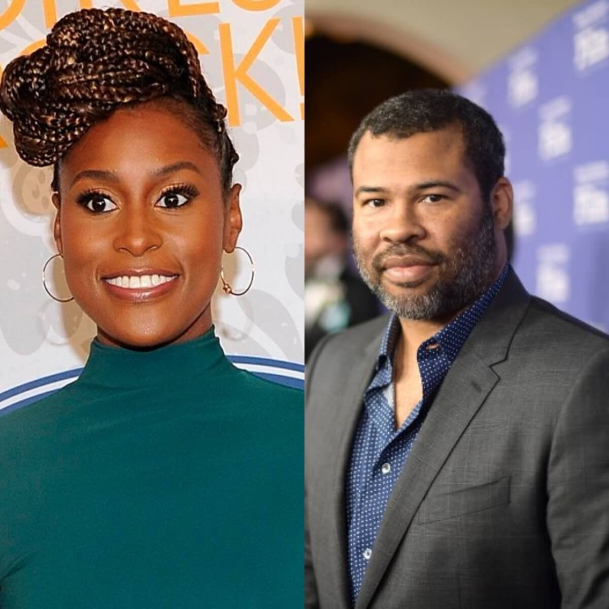Issa Rae and director Jordan Peele making a supernatural film