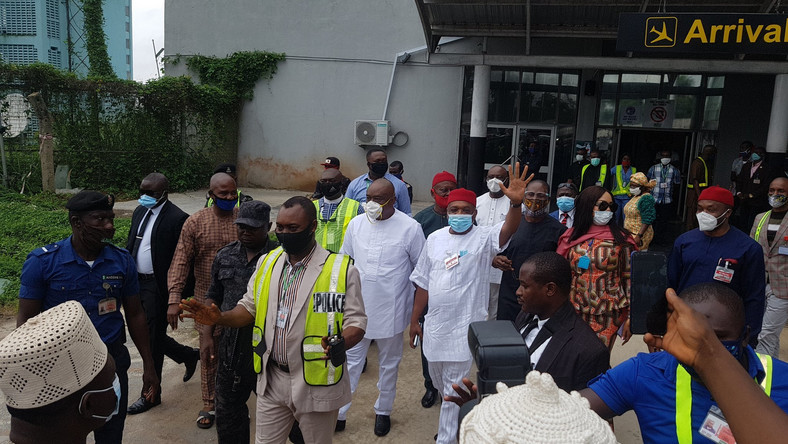 Orji Kalu Receives Hero's Welcome In Abia After Stint In Jail