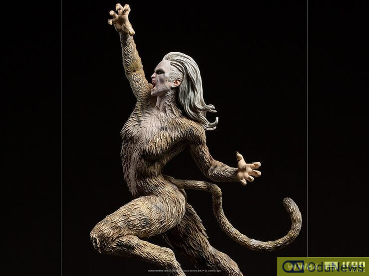 The statue of Cheetah based on her appearance in WONDER WOMAN 1984