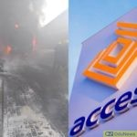 Fire Razes Access Bank Building In Victoria Island