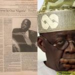 "Tinubu's ""I Don't Believe In One Nigeria"" Comment Stirs Reactions"