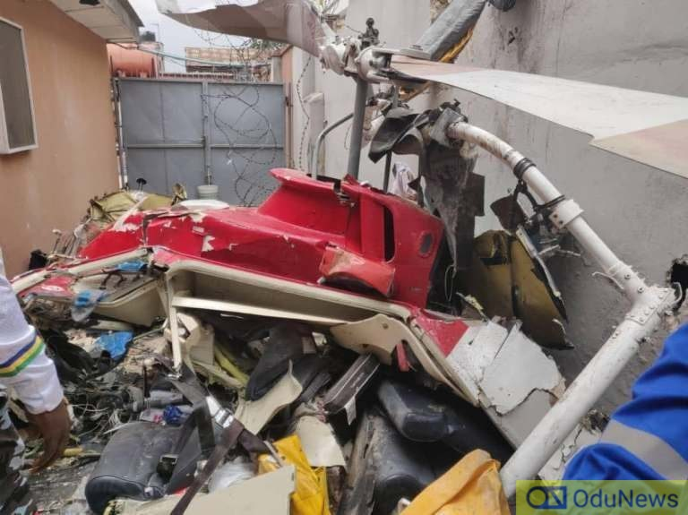 Two Dead As Helicopter Crashes Into Building In Lagos