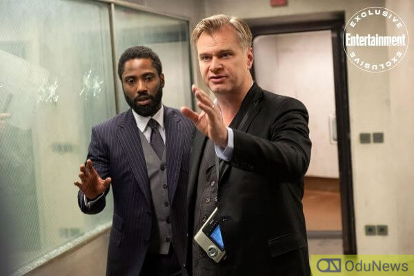 TENET star John David Washington and director Christopher Nolan