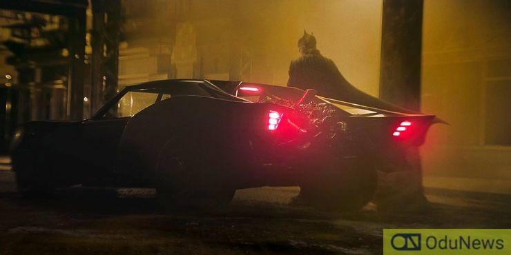 Batman and the Batmobile from the film