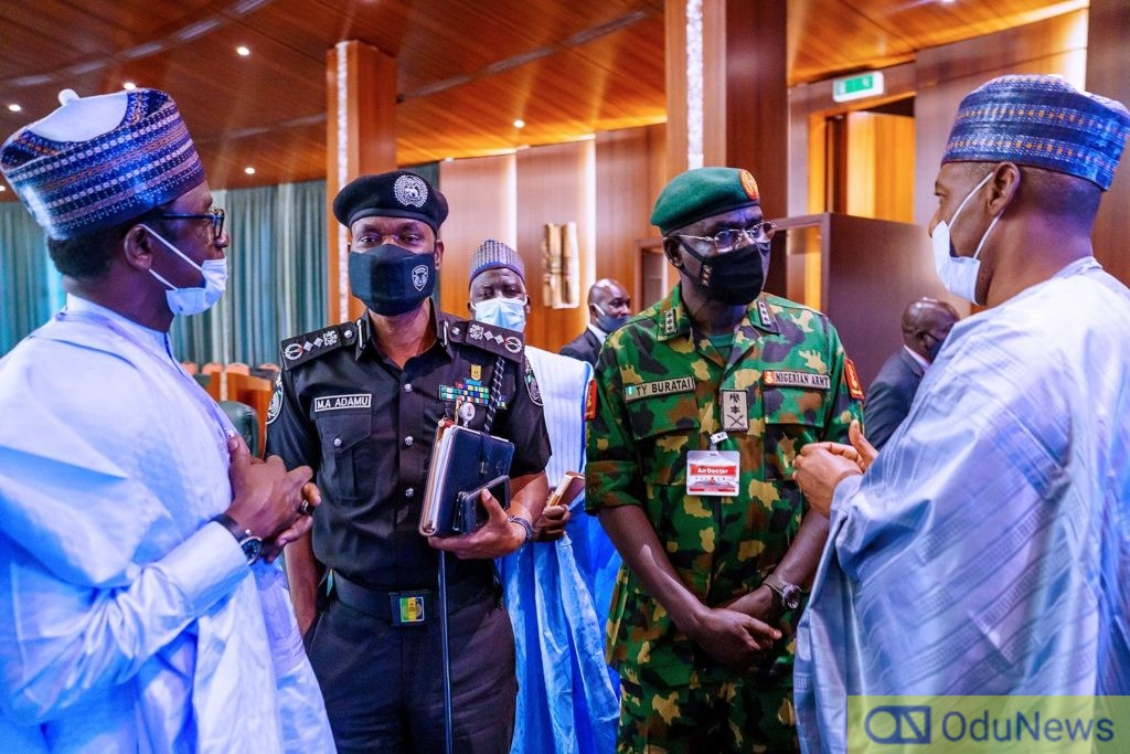 Insecurity: Buhari Meets North-East Governors, Security Chiefs