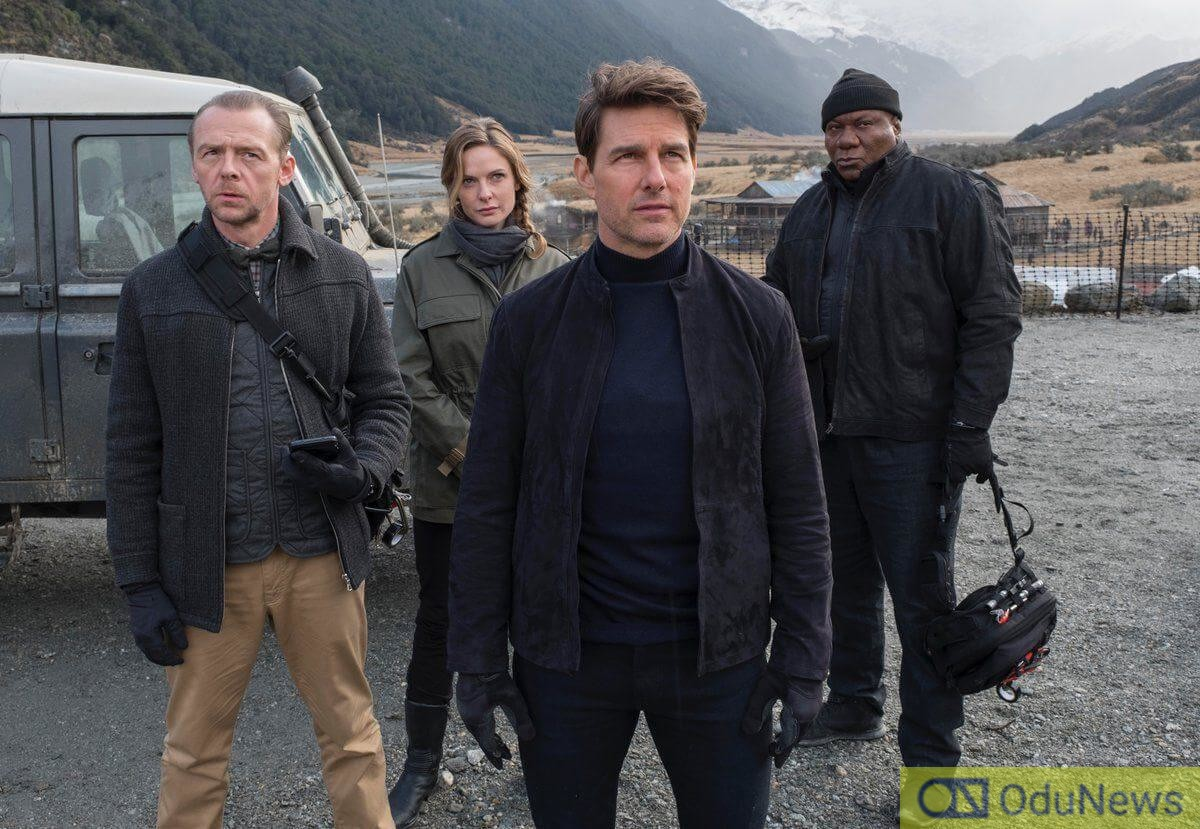 Cruise and members of the supporting cast in the sixth MISSION IMPOSSIBLE film