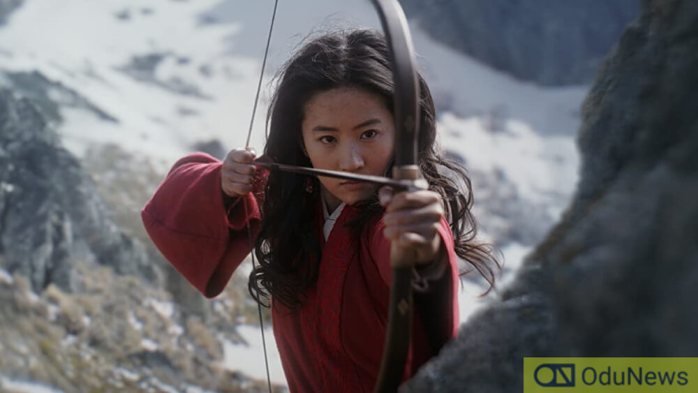 A shot from MULAN movie