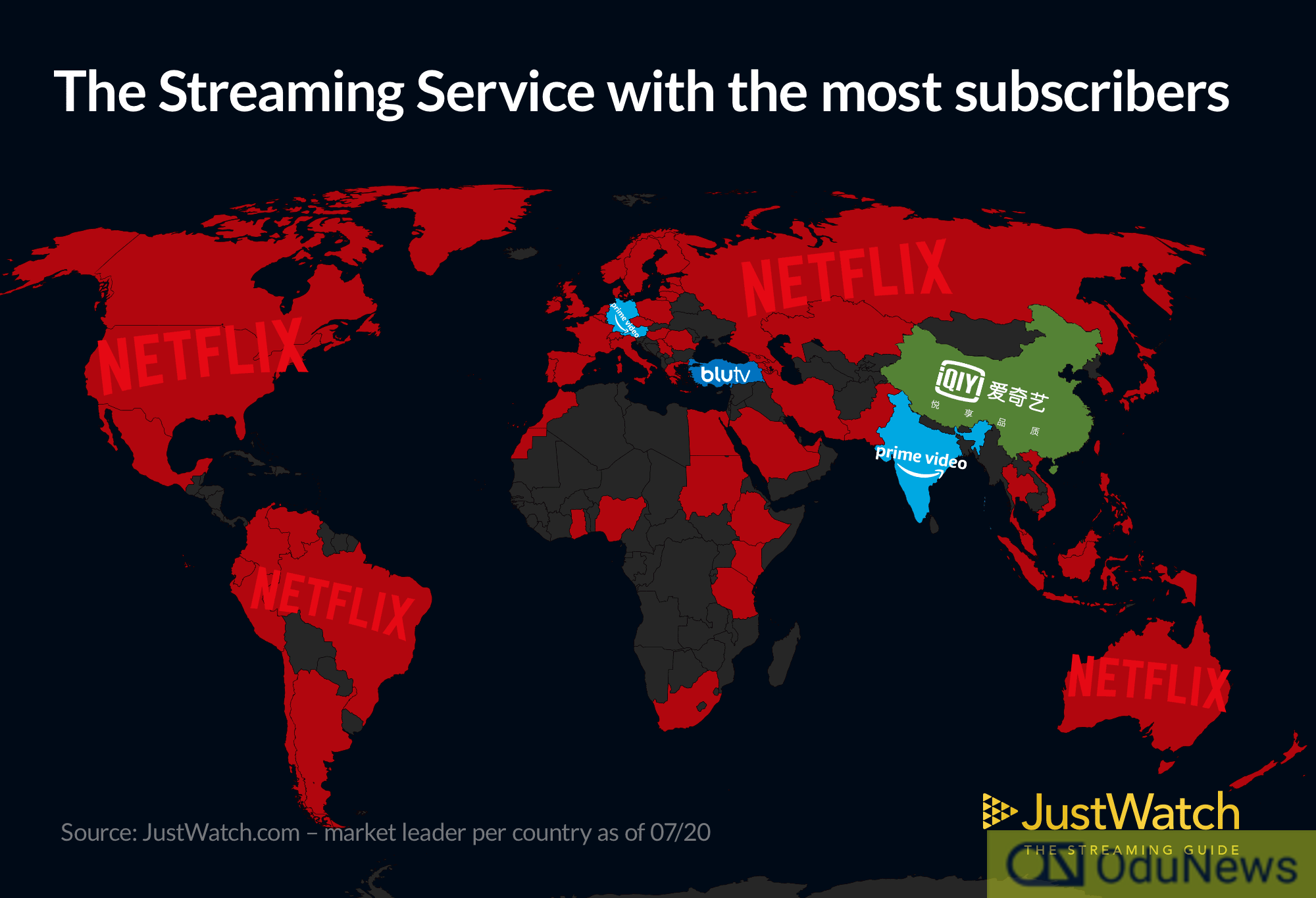 Infographics showing Netflix's dominance/Image Credit: JustWatch