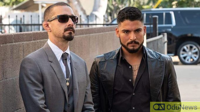 Shia LaBeouf and Bobby Soto in THE TAX COLLECTOR