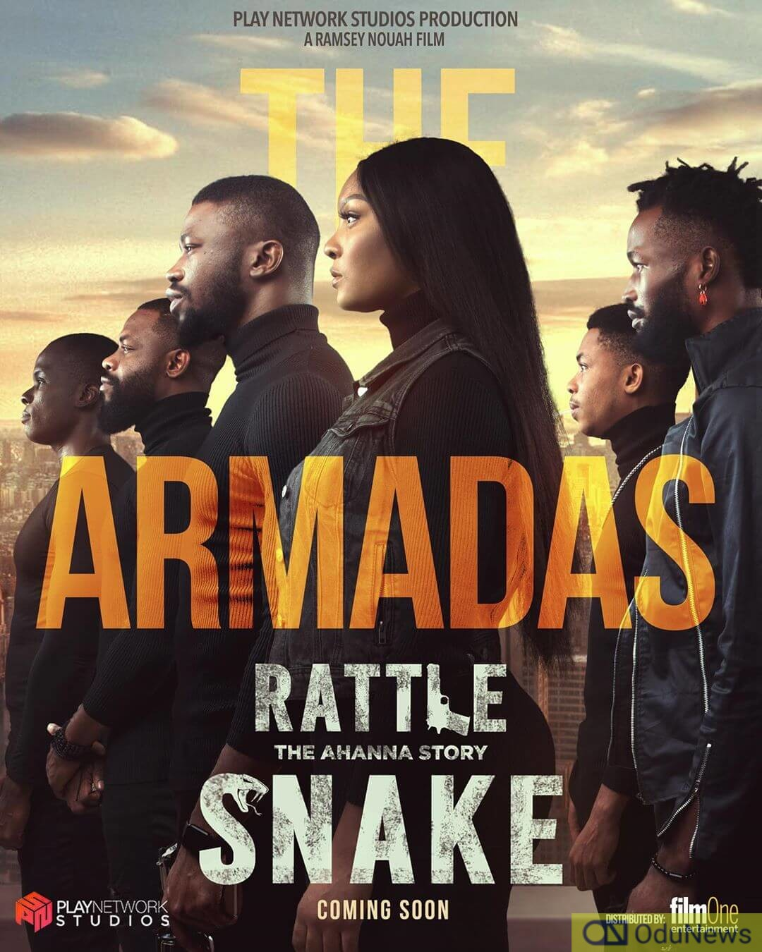 The Cast poster for RATTLE SNAKE: THE AHANNA STORY