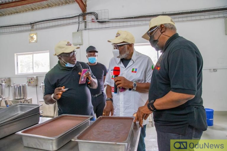 Rotimi Akeredolu Commissions Sunshine Chocolate Factory In Idanre