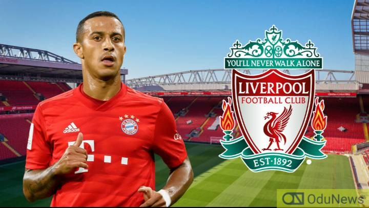Thiago Alcantara Set To Join Liverpool From Bayern Munich