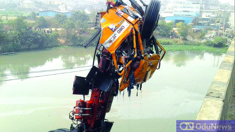 Many Missing As Truck Falls Into River In Lagos