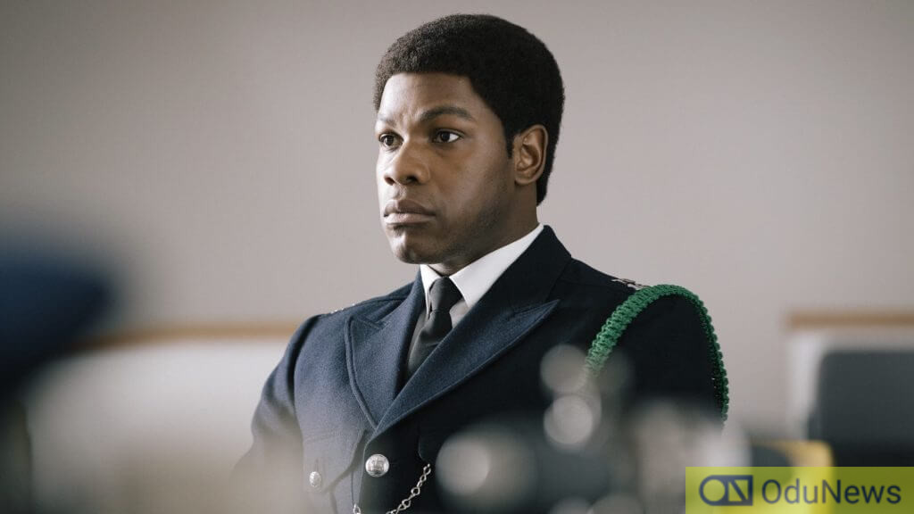 John Boyega as Leroy Logan in SMALL AXE