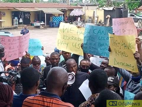APC Councilors Protest Over Non-payment Of Salary In Edo (Photos)