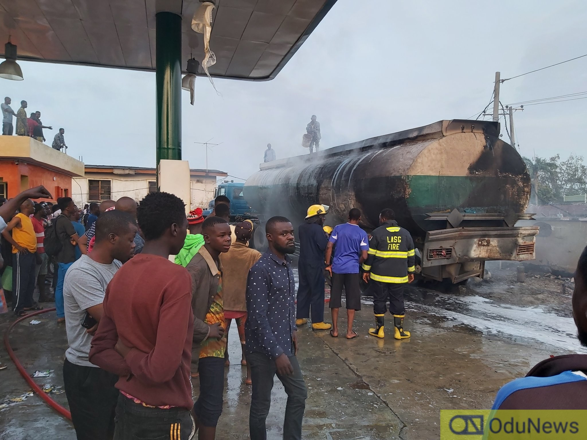 Explosion As Filling Station On Ajayi Road, Ogba Gut Fire