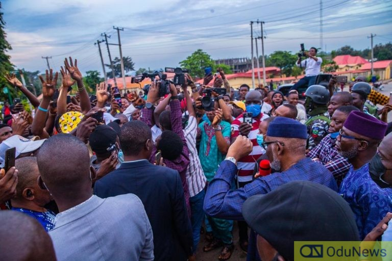Akeredolu joins End SARS protest