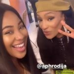 Watch Exciting Moment Erica Met Singer, Di'ja, For The First Time At An Event