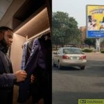 Man Puts Billboard Of Himself In Front Of Same Building He Used To Work As Cleaner In 2011