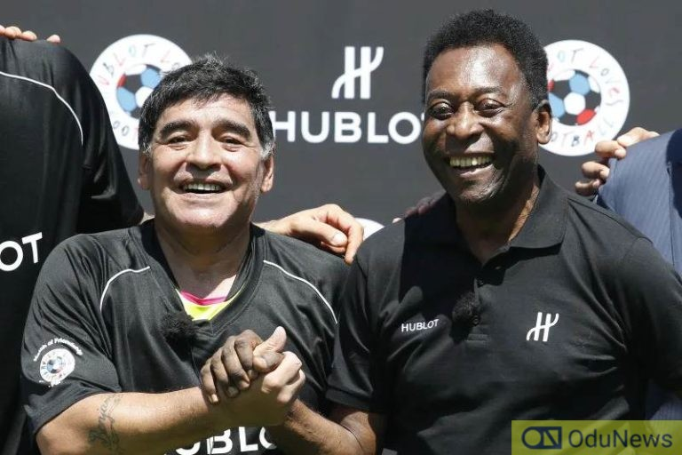 Pele pays tribute to late Argentine football legend, Diego Maradona